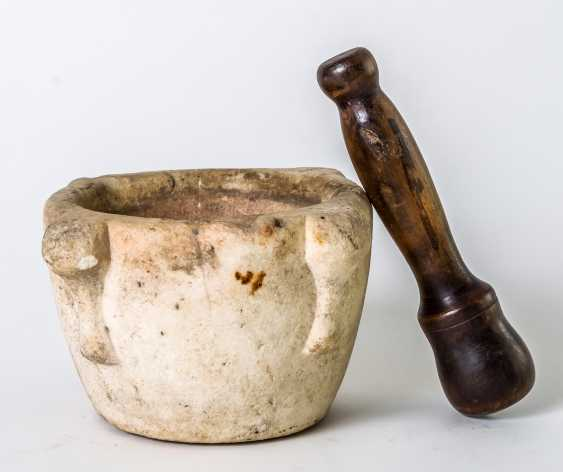 Marble Italian mortar with wooden pestle - photo 1