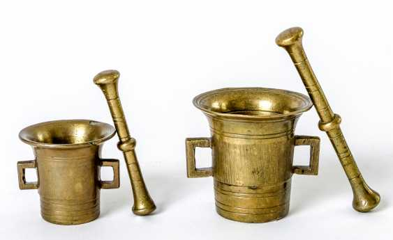 Two small German mortar with pestle - photo 1