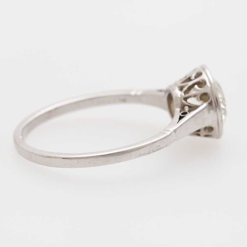 Solitaire ring with 1 old European cut diamond; - photo 2