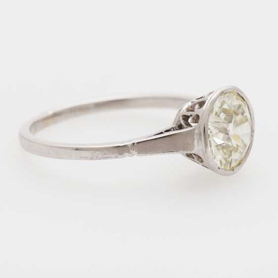 Solitaire ring with 1 old European cut diamond; - photo 4