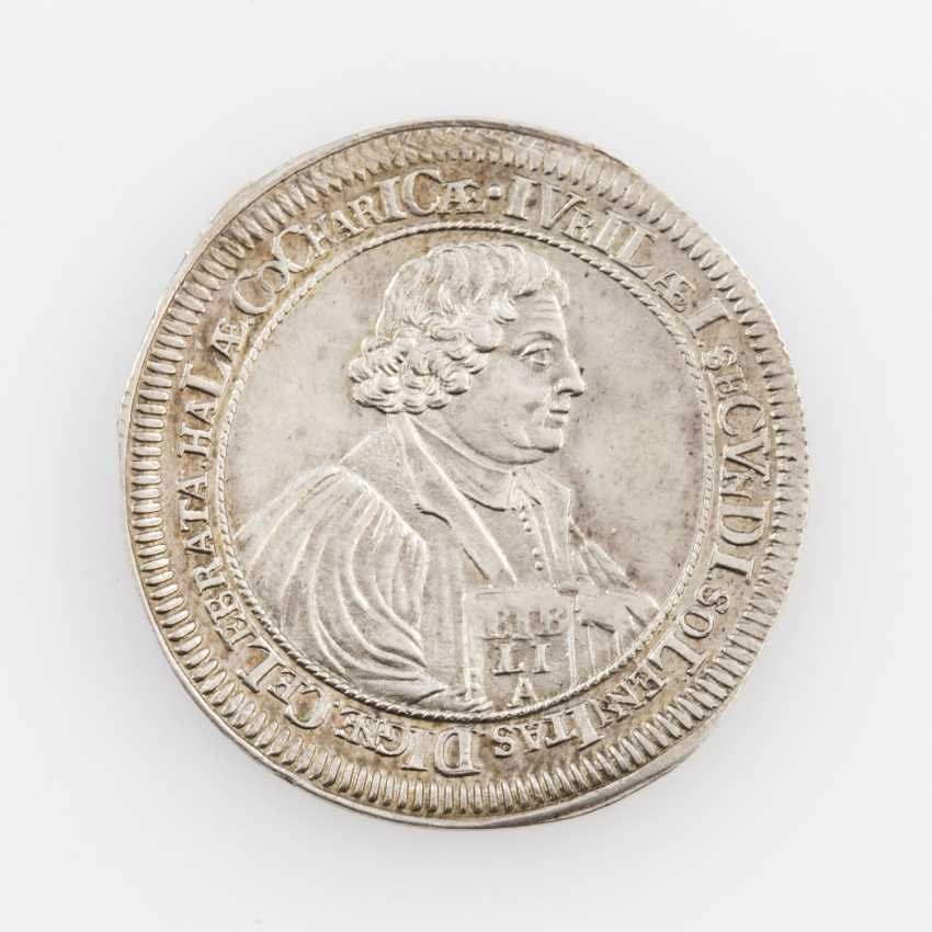 Imperial city of Schwäbisch-Hall - silver-tee of the double Ducat 1717, - photo 1