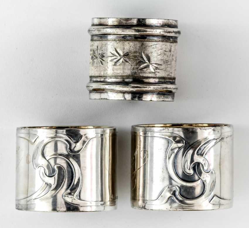3 napkin rings - - - photo 1