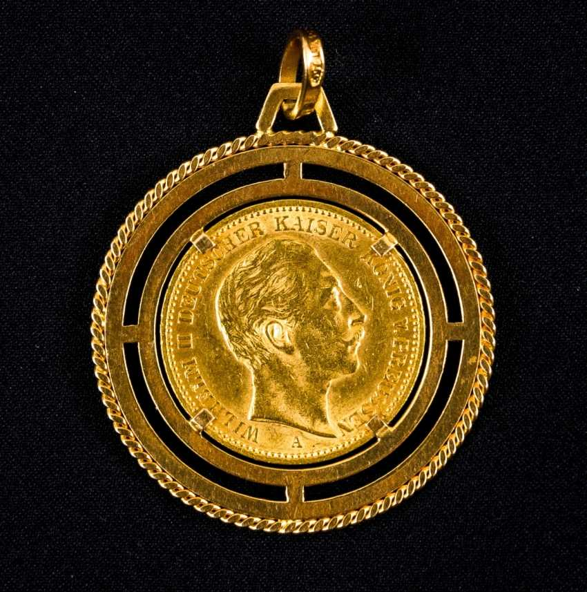 Gold 20 Mark Wilhelm II Deutscher Kaiser, König v. Preussen, Deutsches Reich 1899 in Golden version - photo 1