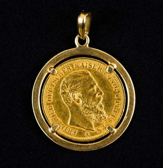 20 Gold Mark, Friedrich Deutscher Kaiser, König v. Preussen, Deutsches Reich 1888 in Golden version - photo 1