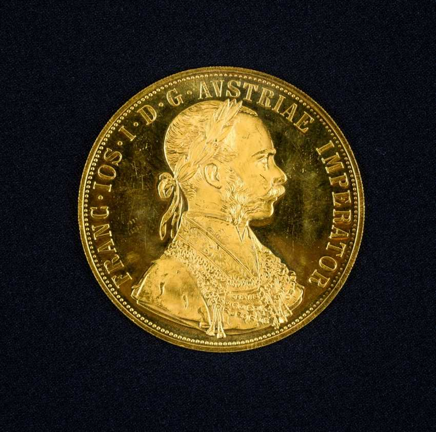 4 Austrian gold ducats, with Portrait of Emperor Franz Joseph I. of Austria, and the year 1915 - photo 1