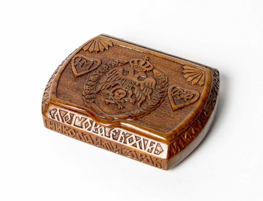 Box with carving - photo 1
