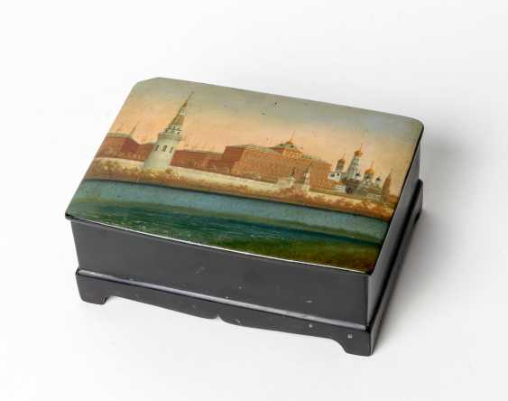 Large paint can with Moscow Kremlin - photo 1