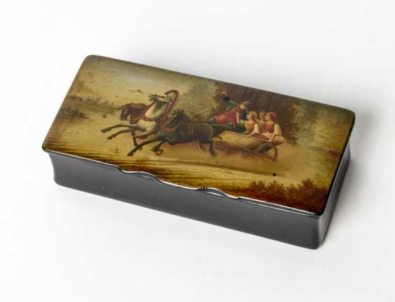 Lacquer box with a stormy Troika travel - photo 1