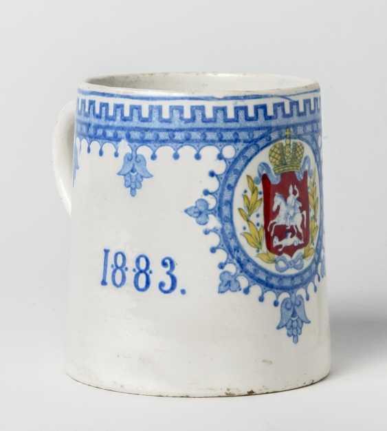 Rare mug for the coronation of Tsar Alexander III. - photo 1