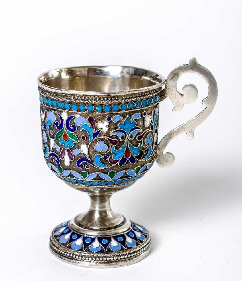 Silver Cup with Cloisonné enamel - photo 1