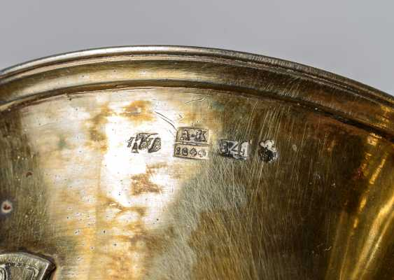 Important gold-plated silver Cup with medallions of the Imperial family - photo 3