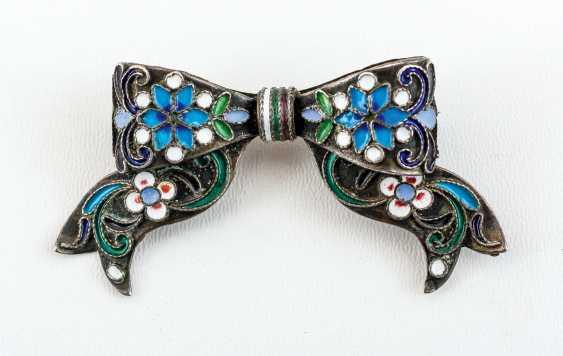 Very nice enameled brooch - photo 1
