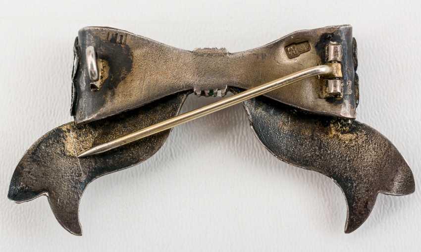Very nice enameled brooch - photo 2