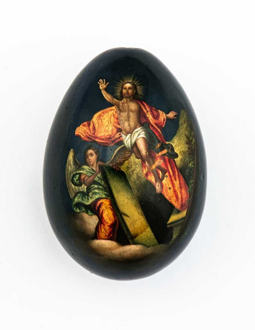 Paint Easter egg with the mother of God of Vladimir, and resurrection of Jesus - photo 2
