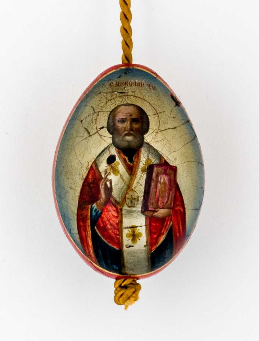 Paint Easter egg with St. Nicholas and the Church - photo 1