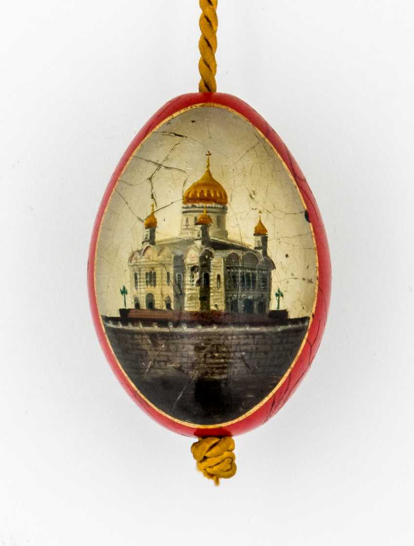Paint Easter egg with St. Nicholas and the Church - photo 2
