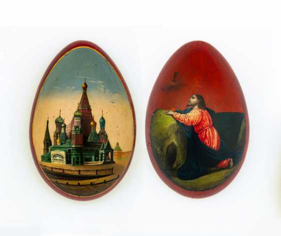 Paint Easter egg with Christ on the mount of Olives and Cathedral - photo 1