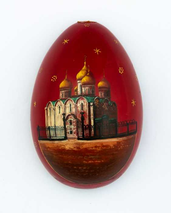 Great paint Easter egg with Christ Pantokrator and the Church - photo 3