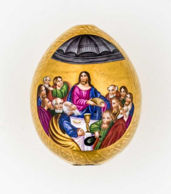 """Porcelain Easter egg with a depiction of the """"Last supper"""" - photo 1"""