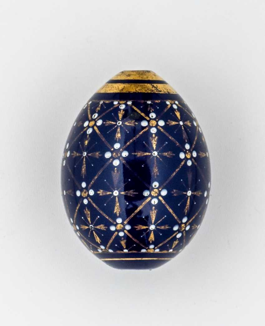 Porcelain Easter egg with geometric pattern - photo 1