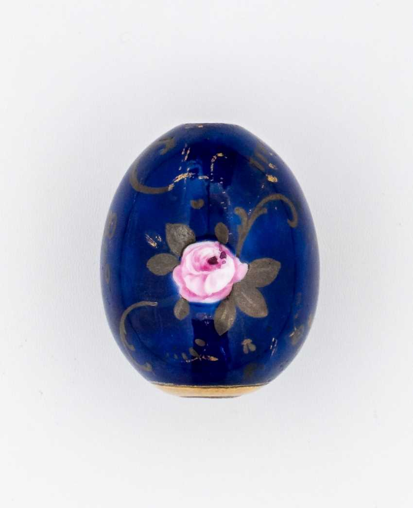 Porcelain Easter egg with Rose - photo 1