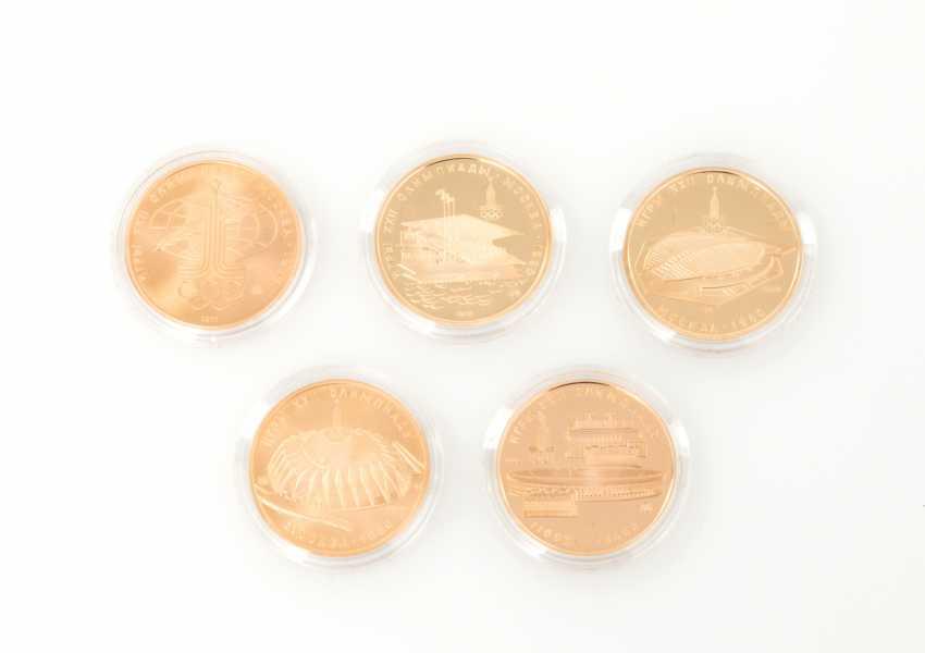 Russland/Gold - 5 x 100 Rubel Olympiade 1980, - photo 2