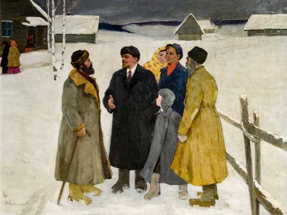 Monumental painting with Lenin in the Winter - photo 1