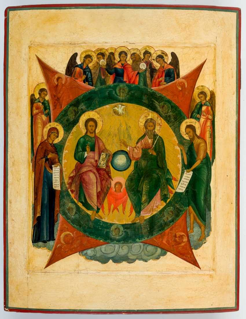 Very large icon of the Hl. Trinity (The New Testament Type) - photo 1