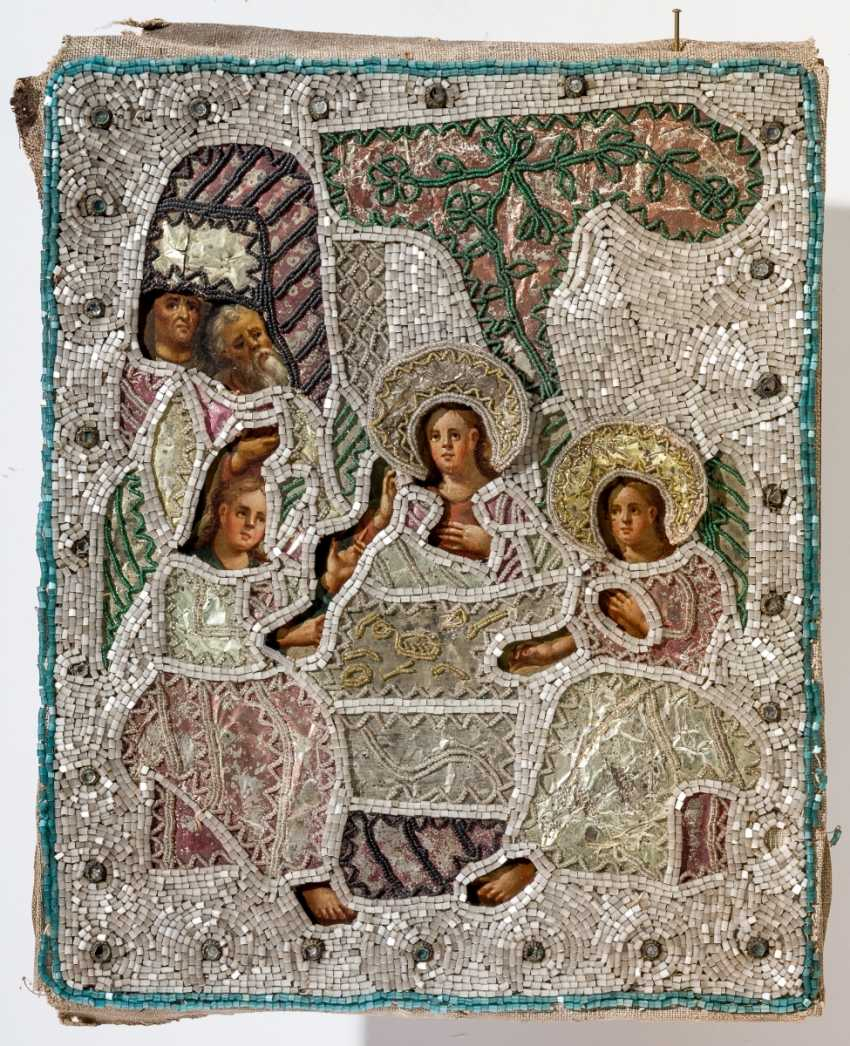 With elaborately Risa is provided with the icon of the Hl. Holy Trinity (Old Testament Type) - photo 1