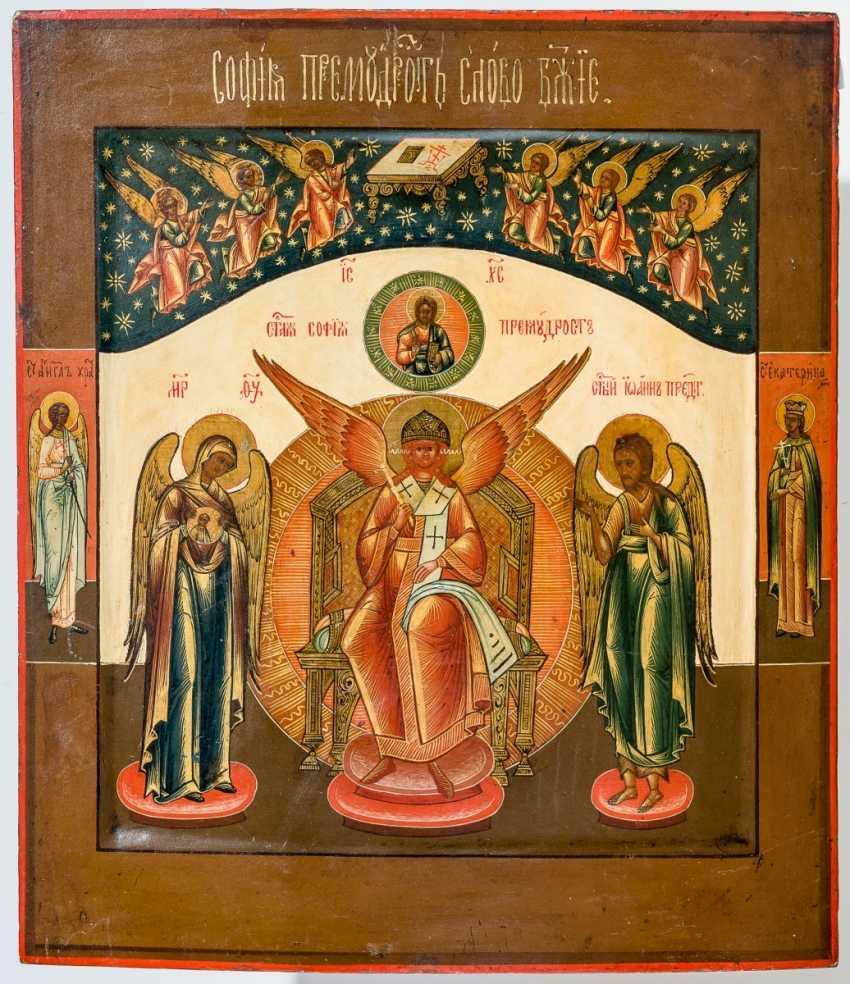 A finely painted icon of the Hl. Sophia, the Divine wisdom - photo 1