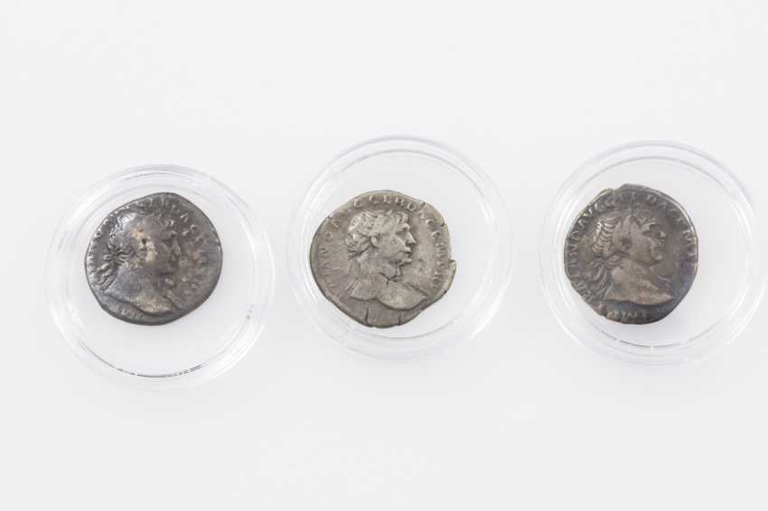 Roman Empire 98-117 BC, 3 of Trajan denarii, - photo 1