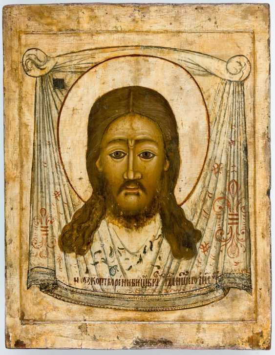 Very large icon of the Mandylion of Jesus - photo 1