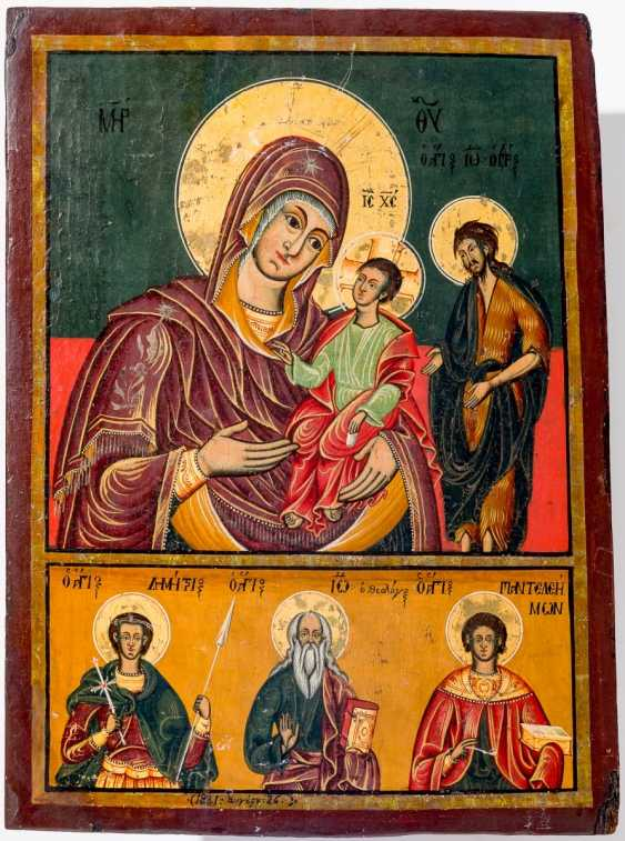 A big icon of the mother of God Portatissa with Holy - photo 1