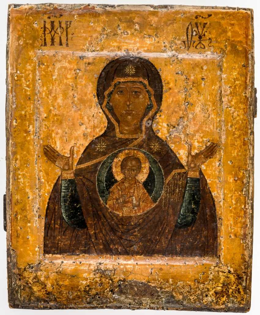 Early icon of the mother of God of the sign (Známenie) - photo 1