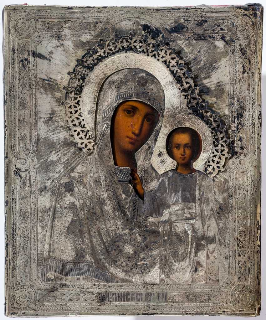 With Silberoklad is provided with the icon of the mother of God of Kazan - photo 1