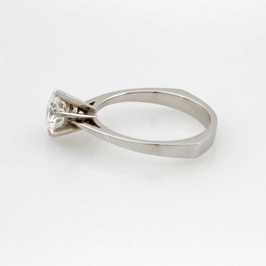 Women's Ring Solitaire White Gold 18 K.