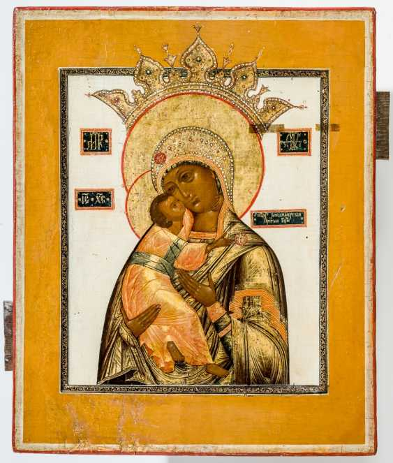 Very finely painted icon of the mother of God Volokolamskaja - photo 1