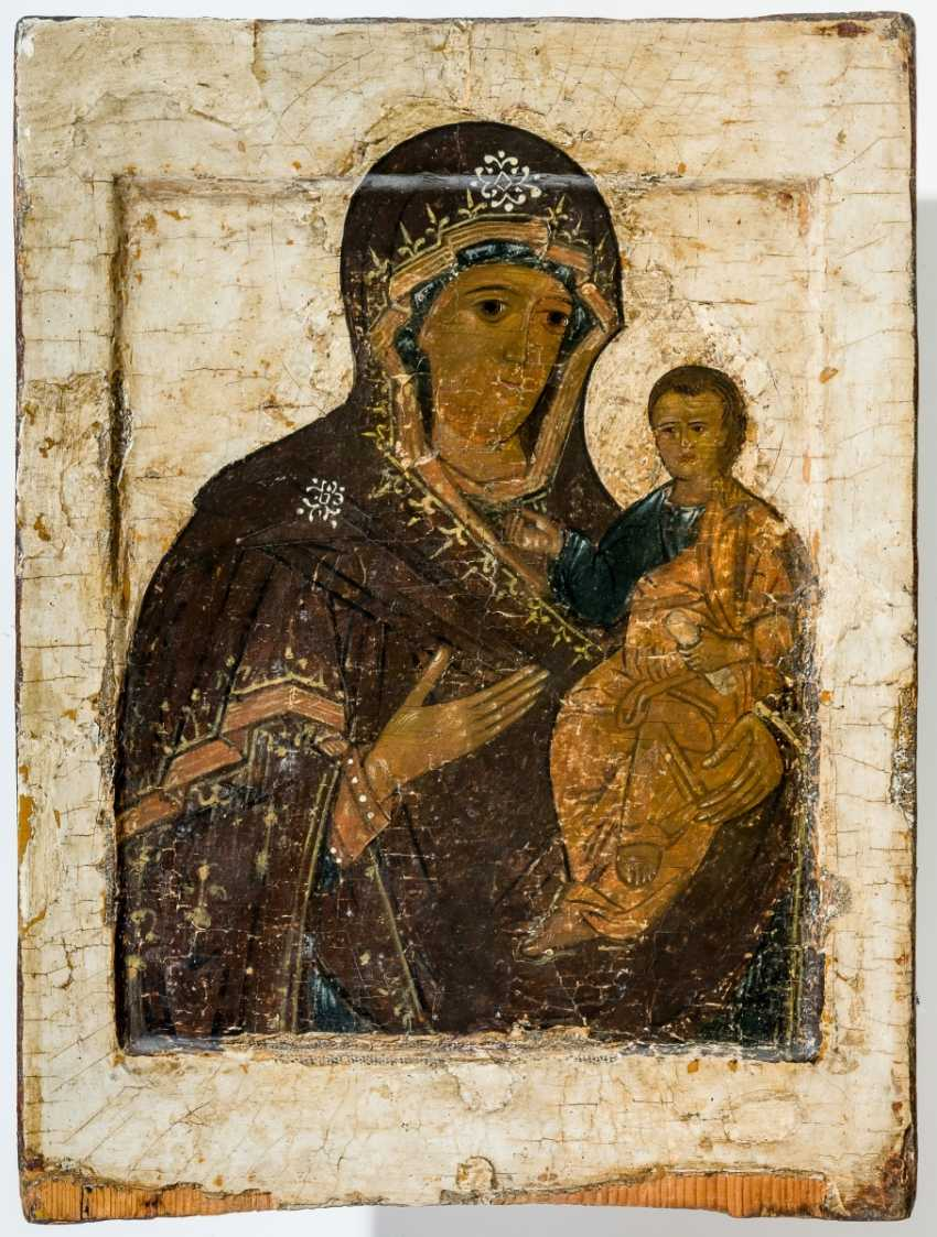 Double-sided icon of the mother of God of Smolensk and Anastasis - photo 1