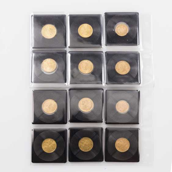Empire/GOLD - Lot with 10 x 20 gold marks and 2 x 10 Goldmark, - photo 2