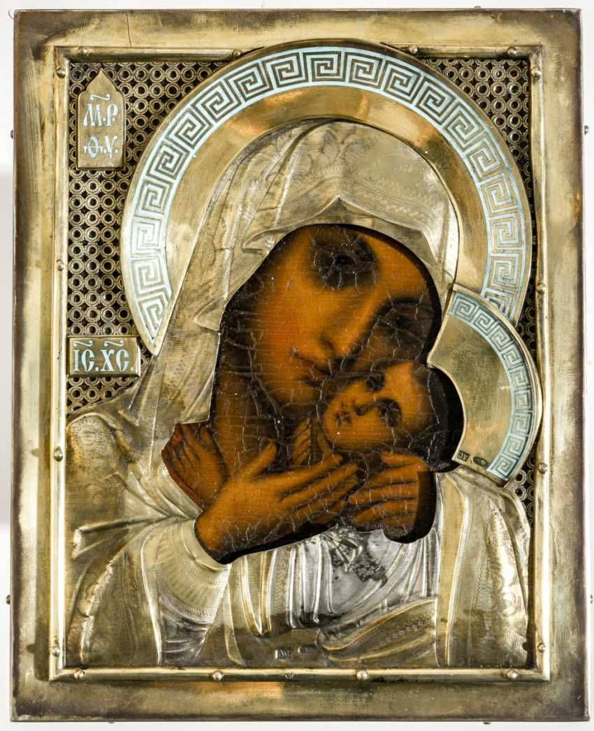 Rare art-Nouveau-style Marine-icon of the mother of God Kasperovskaja - photo 2