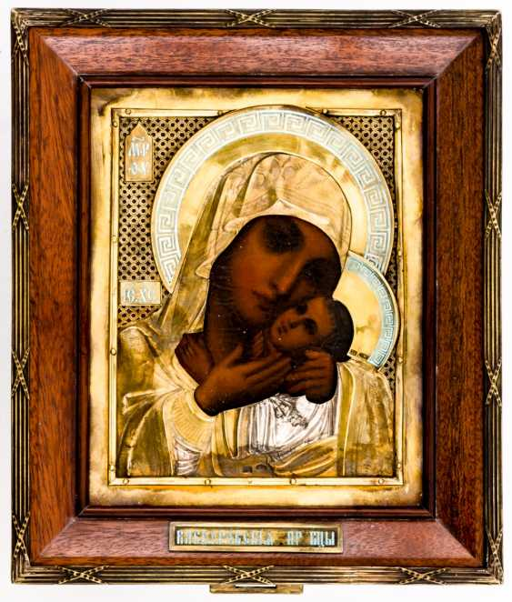 Rare art-Nouveau-style Marine-icon of the mother of God Kasperovskaja - photo 4