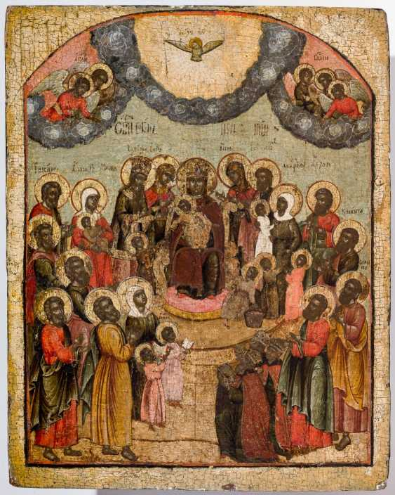 Very rare icon of the Synaxis of the mother of God with many children - photo 1