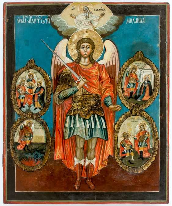 Very large icon of the Archangel Michael with scenes of his Vita - photo 1