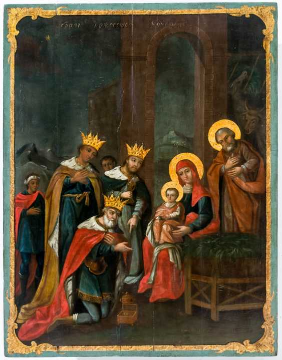 Very large icon of the adoration of the Wise men from the East - photo 1