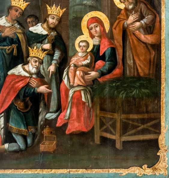Very large icon of the adoration of the Wise men from the East - photo 2