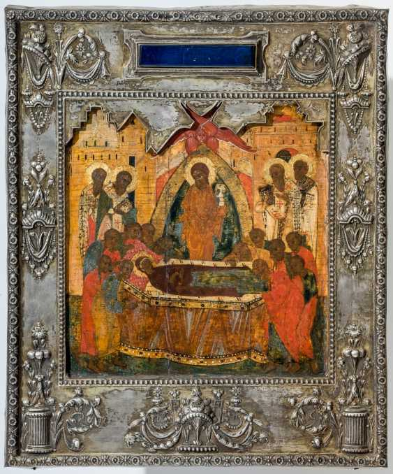 Very early in the Museum's icon of the Dormition of the mother of God with Silberoklad - photo 1