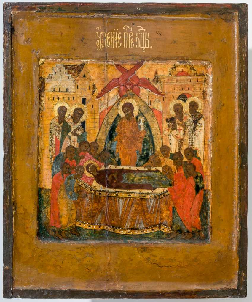 Very early in the Museum's icon of the Dormition of the mother of God with Silberoklad - photo 3