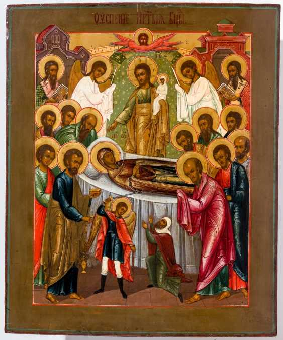 A big icon of the Dormition of the mother of God - photo 1