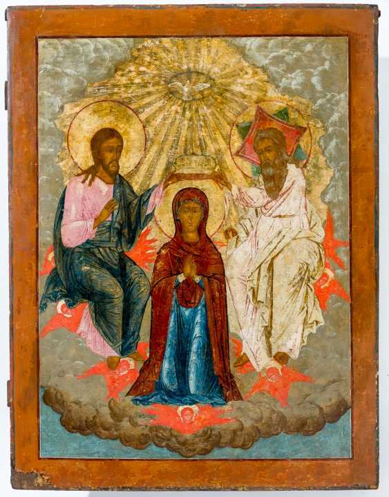 A monumental icon of the coronation of Mary - photo 1