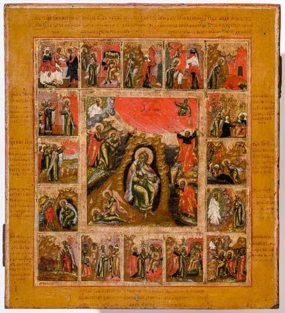 Rares Icône du Prophète Elias avec des Scènes de sa Vita - photo 1